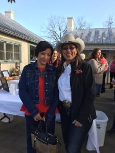 SGRR Community Liaison, Cynthia Prieto (R) with a Laredo Ambassador