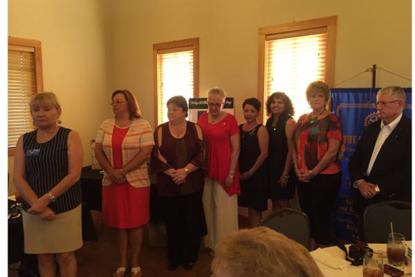 The Hondo -D'Hanis Rotary Club 2016-2017 Executive Officers.