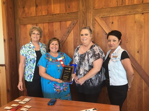 From left: Diane Consgrove - Membership Chair, Diane Cumpian,  Jannie Bryant - President and Cynthia Prieto - Treasurer and PR Chair